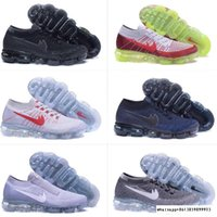 2018 New Arrival Men / Women VaporMaxes Shock Racer Running Shoes para moda superior Moda casual Vapor Maxes Sports Sneakers Trainers