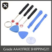 Wholesale Wholesale Cell Phone Kits - For Apple iPhone 4-4S-5-5s-6-moblie phone Cell Phone Reparing tools 8 in 1 Repair Pry Kit Opening Tools Pentalobe Torx Slotted screwdriver