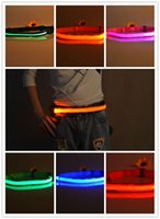 Wholesale Novelty Bicycles - LED Belt Riding Mountain Flash Warning Light Outdoor Running Light-emitting Waistband Safety Reflective Belt Waistband Bicycle Jogging