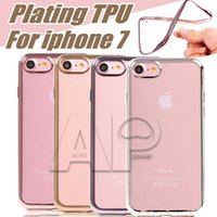 Wholesale Mobile Phone Covers Crystals - For Iphone7 Galaxy S8 Plus Case Ultra Thin Clear Crystal Rubber Plating TPU Soft Mobile Phone Case Cover For Iphone Samsung S7 Edge