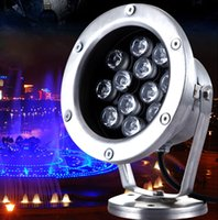 4pcs DC24V 12W LED luz de piscina subaquática RGB LED Fish Lights Exterior Garden Lamp Luzes de piscina LED Landscape Lamp