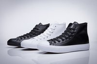 Wholesale Original Brand Shoes For Women - Original Leather Fashion Chuck Tay All Star Shoes For Men Women Brand Sneakers Casual Top Classic Skateboarding Leather Fashion Free Ship