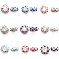 Wholesale Cheapest Pandora Bracelets - 50 Pcs Lot Mixcolors Cheapest Clear Crystal Beads Fit For Pandora Bracelet Necklace Multicolor Big Hole Basic Diy Beads For Jewel Whose J025