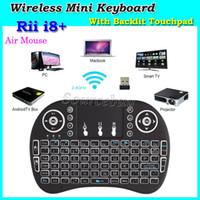 multi jogo de tv venda por atacado-Wireless Mini Keyboards com Backlit I8 Plus Game Fly Air Mouse Multi-Media Remote Control Touchpad Handheld para TV BOX Android Mini PC DHL