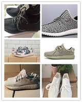2016 la vendita calda a buon mercato professionale pirata nero 350 Running Shoes Adatti a donne e uomini Kanye West 350 Outdoor Sports corsa traspirante