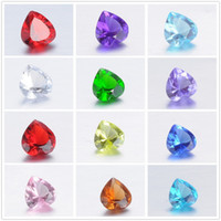 Wholesale 240pcs crystal beads mm Imitation Zircon Heart Birthstone Floating Charm DIY Glass Floating Locket Accessories