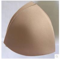 Wholesale Triangle Bra Inserts - Women No rims bra Sports bra Sponge padding triangle insert Black White Skin 10 Pair Wholesale sales bralette bras
