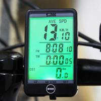 arkadan aydınlatmalı bisiklet bilgisayarı toptan satış-Dokunmatik Kablolu Su Geçirmez Çok Fonksiyonlu Bisiklet bisiklet Bilgisayar Bisiklet Kilometre Kilometre sayacı LCD Aydınlatmalı Aydınlatmalı Bisiklet Bilgisayar ücretsiz kargo