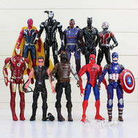 Wholesale Ornaments Iron - The Avengers Captain America Iron Man Spider Falcon 10 can be moving even money in hand to do ornaments toys 16-18cm