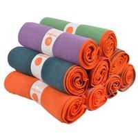 yoga battaniyeleri ücretsiz gönderim toptan satış-Spor kaymaz Polyester Yoga Mat Excersice Havlu Yoga Battaniye Spor Halı Elyaf Emici Havlu Yoga Battaniye Ücretsiz Kargo