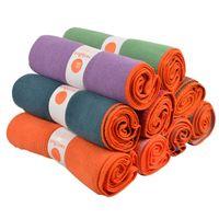 toalheiro venda por atacado-Sports antiderrapante poliéster Yoga Mat excersice Toalhas Yoga Cobertores aptidão Tapete fibra absorvente Toalha Yoga Cobertores grátis
