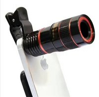 Wholesale telescope for cell phone resale online - Telescope Lens x Zoom Unniversal Optical Camera Telephoto Len with Clip for Iphone Samsung HTC Sony LG Mobile Smart Cell Phone DHL