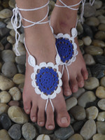 Wholesale Sexy Wedding Thong - Crochet Barefoot Sandal, Feet thongs, Wedding Accessory, Nude Shoes Victorian Sexy Lace