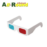 Wholesale 3d Dvd Movies Glasses - White Paper 3D Glasses for DVD Movies, TV Series, Reigon 1 Region 2 1:1 full english Top Quality Factory Sales 500pcs Lot