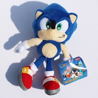"""Wholesale Sonic Hedgehog Wholesale - 2017 hot 9""""23cm Blue Sonic the Hedgehog Stuffed Animals Plush Toys Soft Doll For Children Toys Gifts"""
