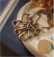 Wholesale Movie Surround - Pirates of the Caribbean DavyJones Long Sweater Chain Octopus People Long Chain Fashion Movie Surrounding Pendant