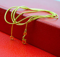 Wholesale smooth gold chain necklace resale online - 18K Gold Plated Snake Chain Necklace for Woman Lobster Clasps Smooth MM Chain Fashion Jewelry Christmas Gift Inch