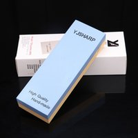 Wholesale Double Sided Material - The new listing Double-sided Kitchen Knife Sharpening stone 2000 5000 Grit Stocked CIQ Material white corundom Size 180*60*27mm h1