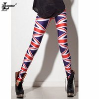 Wholesale Union Jacks Pants - Wholesale- UK Flag Union Jack Digital Print Leggings Fitness Women Brand Clothes Fashion Gothic Creative Shape Slim Popular Pants BL-100