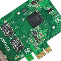 intel ethernet großhandel-Großhandels-Winyao E350T4 PCI-E X1 Quad-Anschluss 10/100 / 1000Mbps Gigabit-Ethernet-Netzwerkkarte Server-Adapter LAN Intel I350-T4 NIC