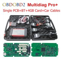 Professional Multidiag Pro + Ferramenta de diagnóstico 2014.3 + Bluetooth + 4GB TF Card + Full Car Cables Plus TCS CDP Pro DHL Free