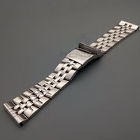 Wholesale Metal Strap Watches For Women - Stainless Steel 22mm 24mm For Breitling Watch Band Strap Mens Fashion Metal Watchbands Bracelet Women Watch Accessories