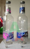Wholesale Inflatable Huge - inflatable customized ZIMA bottle huge inflatable display bottle made of white transparent cloth for advertising decoration