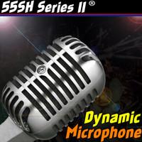 micrófono clásico al por mayor-Profesional Plata 55SH Serie II Retro Classic Dynamic Vintage Wired Micrófono Viejo estilo Mic vocal para KTV Karaoke Studio Grabación Mike