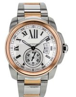 Wholesale Low Price Automatic Watch Brands - Factory Brand new direct sales of high quality low price Mens Calibre de Watch Automatic 18k Rose Gold Steel W7100036