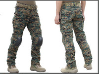 Wholesale Emerson Airsoft - HOT Gen2 Pants Emerson Airsoft wargame Pants with knee pads woodland marpat 6989