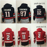 Wholesale Gronkowski Jersey Xxl - New Hot Sale Jersey 2 Matt Ryan 11 Julio Jones 12 Tom Brady 87 Rob Gronkowski 11 Julian Edelman Hoodies Jerseys Sweatshirts Jerseys