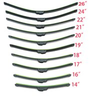 Wholesale Wiper Blades Wholesale - Universal U-type Soft Frameless Bracketless Rubber Car Windshield Wiper Blade 14 16 17 18 19 20 21 22 24 26 inch Optional