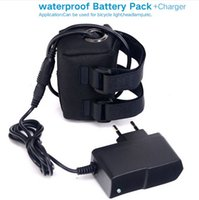 Wholesale Rechargeable Battery Packs For Bicycles - 8.4v rechargeable 4*18650 6400 mAh battery pack for bicycle light bike light,headlamp Li-lon battery Waterproof Silicone+8.4V Charger