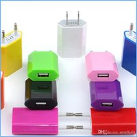Wholesale Adapter For E Cig - Mini EU USA Wall Adapter Home Travel Charger USB Wall Charger For Smartphone 4S 5S Samsung Galaxy Note 3 E Cig eGO Battery