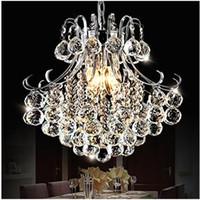 Wholesale Energy Saving E14 Led - Chandelier Modern E14 K9 Crystal 4 Lights 20W 110-240V Free Shipping 85-265V 40*40*41 Study Room Office, Dining Room, Bedroom, LivingCM