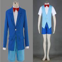 japanisch heiß voll großhandel-HOT Beliebte Japanische Anime Detektiv Conan OVA Edogawa Konan Cosplay Kostüm ZWEI Generation Outfit Voller anzug