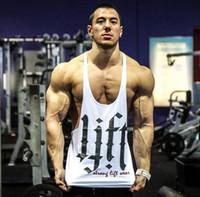 Wholesale Gorilla Fitness - High Quality New men's big muslce gym vest with gorilla, fitness & bodybuilding & workout tank tops,men 100% cotton Vest,M-XXL hight quality
