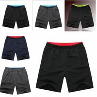 Wholesale Knee Pants For Men - Plus Size L- 5XL mens quick dry Running Shorts pants NK fashion brand zipper pocket outdoor Men sports short pants for men Gym Fitness wear