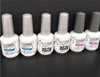 Wholesale harmony gelish nails for sale - Harmony gelish polish LED UV nail art gel TOP it off and Foundation frence nails Top coat Base coat set