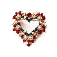 Wholesale Scarf Stoned - Christmas brooches scarf buckle rhinestone brooch fashion jewelry high quality accessories brooch wedding bouquet brooches for wedding