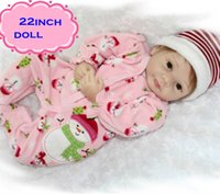 Wholesale Best Realistic Silicone - 22inch Lovely Play Doll Brinquedos Npk Silicone Reborn Baby Dolls In Pink Most Realistic Baby Dolls Newborn As Kid Best Partners