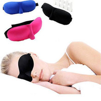 Wholesale Padded Blindfold - 3D Soft Aid Sleep Masks Padded Shade Cover Rest Travel kits Relax Sleeping Blindfold eye mask colorful drop shipping