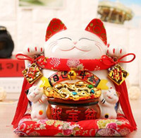 Wholesale lucky cats resale online - Lucky Cat Japanese TheJapaneseLucky Lucky Cat ornaments Japan genuine piggy piggy bank size ceramic shop cashier