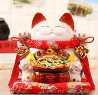 tirelires chat chanceux achat en gros de-Lucky Cat Japonais TheJapaneseLucky Lucky Cat ornements Japon véritable piggy tirelire taille en céramique caissier