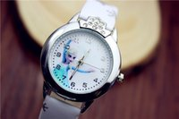 Wholesale Gift Boxed Watches For Children - Frozen Snow Princess Wrist Watches Children Gifts Box-packed Cartoon Watches for Kids Children Wholesale Free Shipping