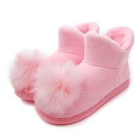 Wholesale Ice Cream Promotion - New Promotion Fall Winter Home Indoor Slipper Women Ice Cream Ball Lady Girl Warm Cotton Plush Floor Nonslip Shoe Mujer Zapatos