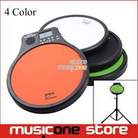 Wholesale Practice Drum Pad Electronic - Wholesale-ENO Digital Drumming Practice Drum Pad With Metronome 3 in 1 For Drummer Black Metronomer Electronic Practise Pad