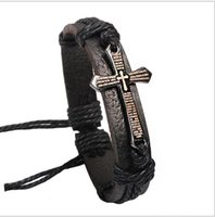 Wholesale Metal Accessories Manufacturers - Ji nuo accessories manufacturers Scripture cross bracelets bracelets Metal accessories Leather bracelet Sell like hot cakes style