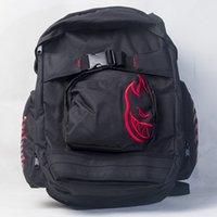 Wholesale Canvas Shoulder Bag Men Uk - New Canvas middle school laptop Fire hiphop Design Notebook Backpack Girl cartton printing UK travel shoulder street bag