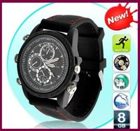 Wholesale Discount Waterproof Watches - Discount sales promotion Mini Camera 720*480AVI 16GB watch camera Dvr wrist watch Waterproof Hd in stock 100pcs lot Free DHL